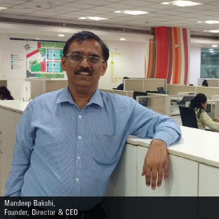 Mandeep Bakshi,Founder, CEO & Director
