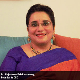 Dr. Rajashree Krishnaswamy, Founder & CEO