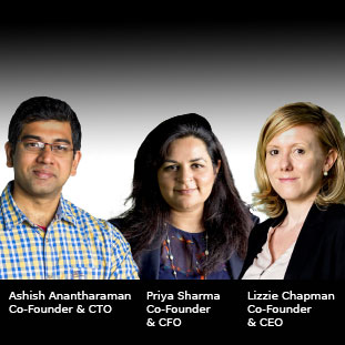 Lizzie Chapman, Priya Sharma & Ashish Anantharaman,Co-Founder & CEO, Co-Founder & CFO & Co-Founder & CTO