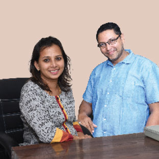 Santosh Nair, Co-Founder & Chief Administrative Officer ,Kanchan Nair, Co-Founder & Financial Officer
