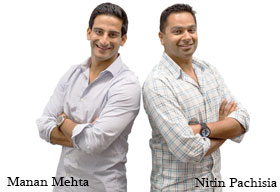 Manan Mehta and Nitin Pachisia, Unshackled Ventures